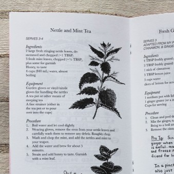 Contains recipes by L.M. and illustrations by Robin.